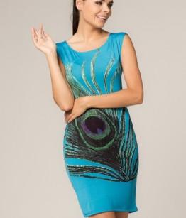 Paabulinnu sule kujutisega kleit