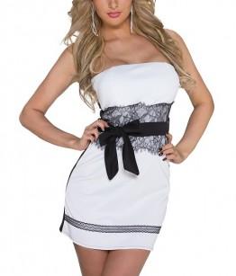 Pidulik valge musta kleit